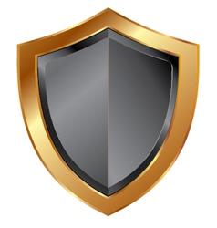 gold shield trim vector image