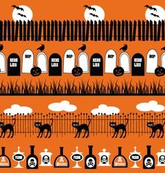 halloween border patterns vector image vector image