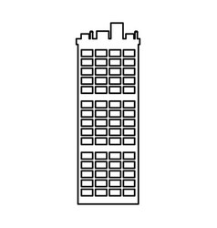 outline building apartment city landmark vector image vector image