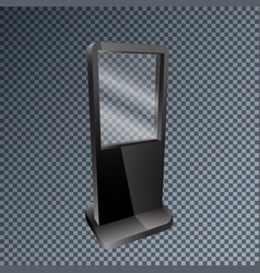 template blank mockup outdoor lightbox for vector image