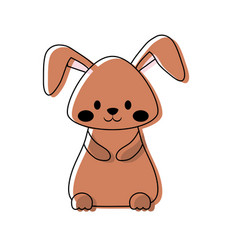 cartoon rabbit icon vector image vector image