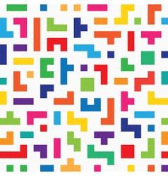 Colorful tetris seamless vector image