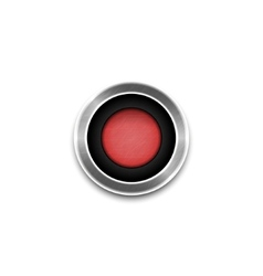 Red Button isolated vector image