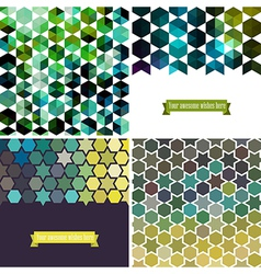 Retro pattern of geometric shapes Colorful mosaic vector image