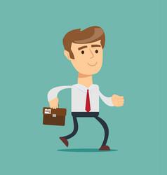 Simple cartoon of a businessman running vector