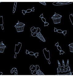 Sweet a seamless pattern4 vector image vector image