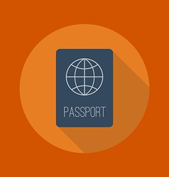 Travel Flat Icon Passport vector image vector image