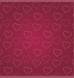 valentines day pink heart pattern background vector image