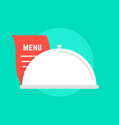 white dish icon with menu vector image vector image