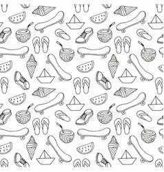 a seamless decorative summer pattern for the vector image