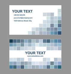 Abstract square design business card template vector image
