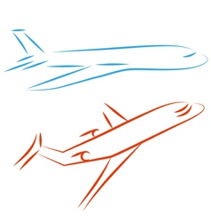 airline icon vector image