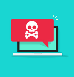alert notification on laptop computer vector image
