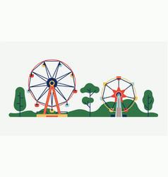 amusement park ferris wheels vector image