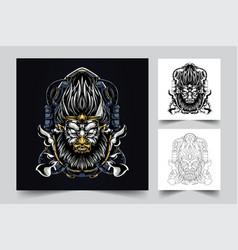 angry monkey artwork vector image