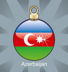 Azerbaijan flag on bulb vector image