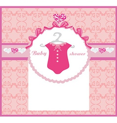 Baby girl shower invitation vector image