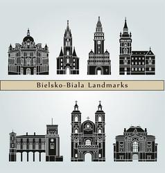 bielsko-biala landmarks vector image