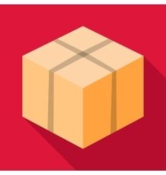 Big box icon flat style vector image vector image