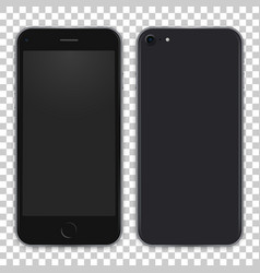 black phone concept from front side and back view vector image vector image