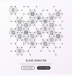 blood donation charity mutual aid concept vector image