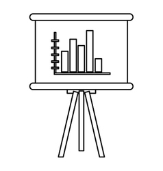 Board bar graph vector