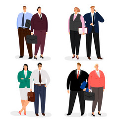 Business couple characters isolated on vector