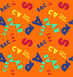 Caracas seamless pattern vector