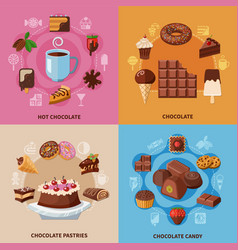 chocolate flat concept vector image