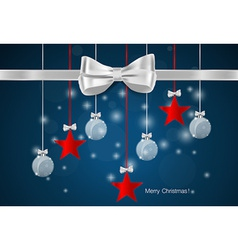 Christmas background with Christmas decorations vector image
