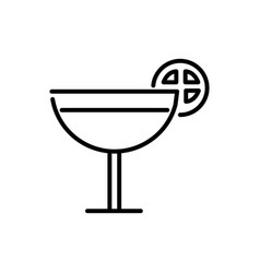 cocktail drink with lime tourism travel thick line vector image