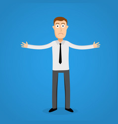 Confused business man cartoon person vector