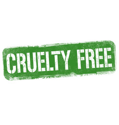 Cruelty free sign or stamp vector