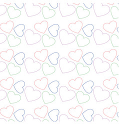 cute heart love icon background vector image