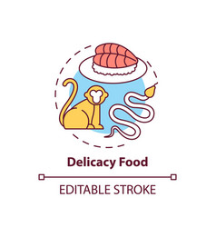 Delicacy food concept icon vector