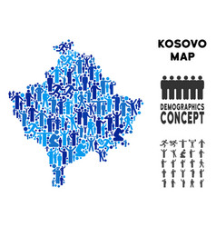 Demographics kosovo map vector