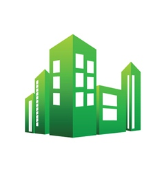 eco building green vector image