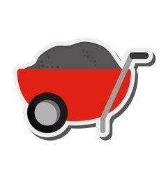 Filled wheelbarrow icon vector