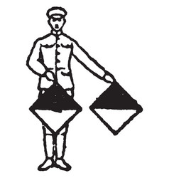 Flag signal for the letter g and the number 7 vector