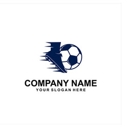 foot ball logo vector image
