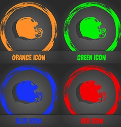 football helmet icon Fashionable modern style In vector image