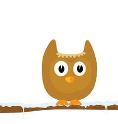 funny animal on the snow branch part two vector image
