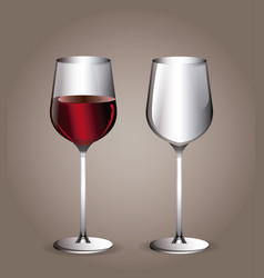 glass cup wine transparent image vector image