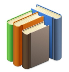 Group of books vector