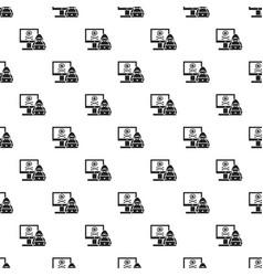 Hacker activity pattern seamless vector