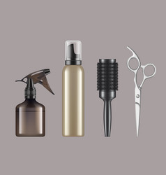 hairdressing tools haircut hairstylist barbershop vector image