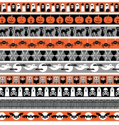 Halloween borders vector