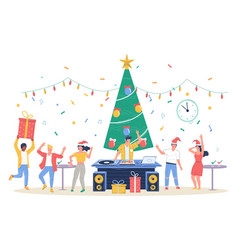 happy business people celebrating merry christmas vector image