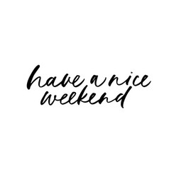 have a nice weekend phrase lettering vector image