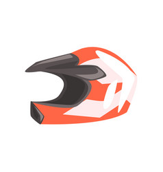 Head protective hard helmet part of bmx rider vector
